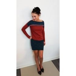 Kleid - HO2-b6 blau rot...