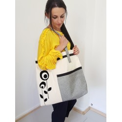 Shooping Bag in Grau....