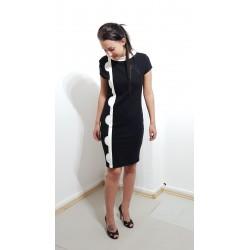 Iza Fabian, Elegantes Damen Kleid in Retro Style, Schwarz.