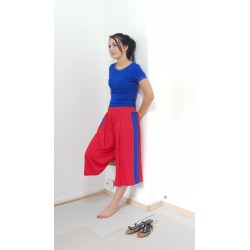 Lockere Jersey Hose in Rot...