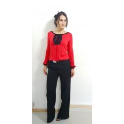 Designer Bluse in Rot,...