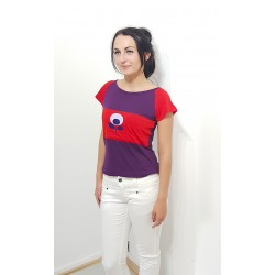Shirt in Rot und Violett,...