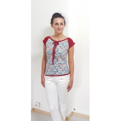 T-Shirt mit Flora Muster,...