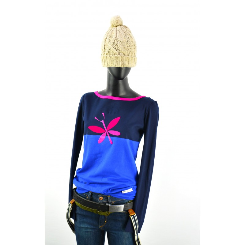 blue red shirt sweater sweater t-shirt longsleeve dress women red blue hoodie hoody points IZA FABIAN collection preview
