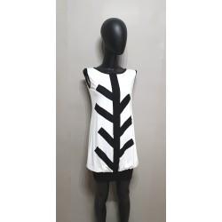 Schwarz weiße Kleid -...