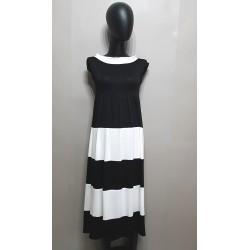 Schwarz und Weiß, Kleid mit...