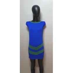 Royalblaue Kleid mit Grünen...