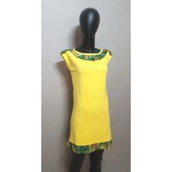 Jersey Kleid in Gelb ,...