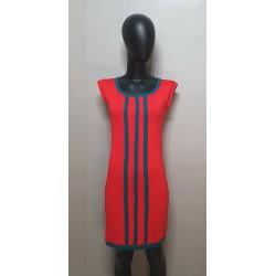 Rot-Petrol, Kleid aus...