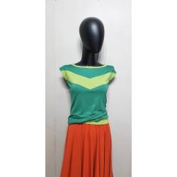 Iza Fabian Shirt in Grün mit Streifen.
