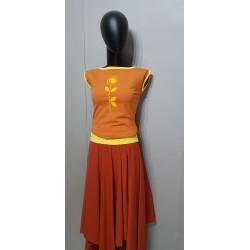 Iza Fabian Shirt Blume Orange Terra