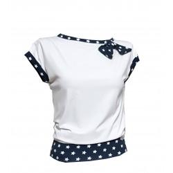 Weiß Blaue Shirt mit...