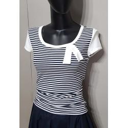 Iza Fabian Shirt Streifen Weiß Blau