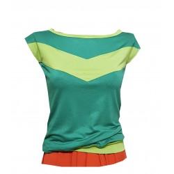 Shirt in Grün mit Streifen....
