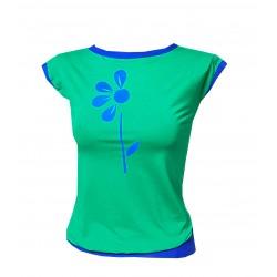 Grün Royale Shirt mit Blume...