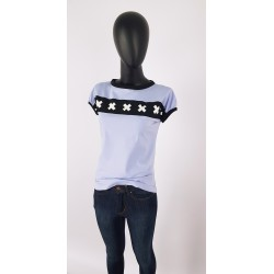 Iza Fabian Shirt Lila Kreuz...
