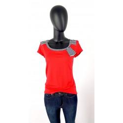 Iza Fabian Rot Shirt Streifen