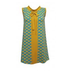 Kleid in 60-er Look, Ocker,...