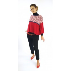 Pullover in Rot mit...
