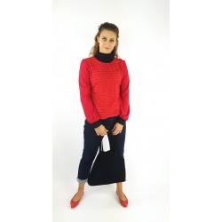 Rollkragen Bluse in rot,...