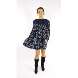 Lockeres Kleid mit Muster...