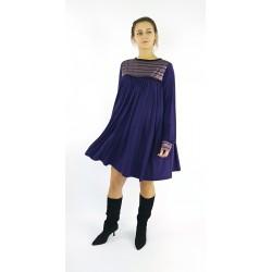 Kleid in Violet, locker mit...