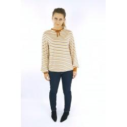 Blusen Pullover in Vreme und Rost, Schleife, Iza Fabian.