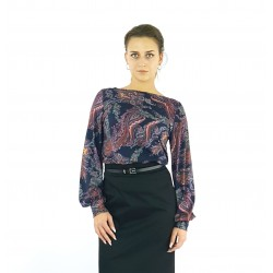 Bluse mit Paisley Muster in...