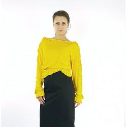 Bluse in Gelb mit Rüschen,...
