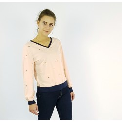 Pullover in Apricot mit...
