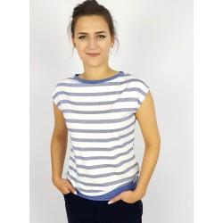 Iza Fabian Shirt mit Blauen Streifen.