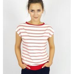 Iza Fabian Shirt mit Roten Streifen.