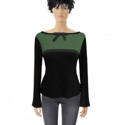 Grün Schwarz Schleife, Pullover von Iza Fabian