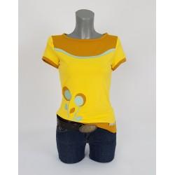 Iza Fabian Shirt Damen Gelb Blumen Retro