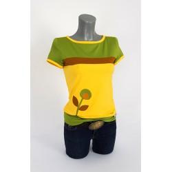 Iza Fabian Shirt Gelb Blume Olive