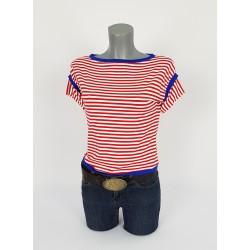 Iza Fabian Shirt Streifen Rot Blau