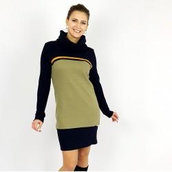 Hoodie Kleid in Marine und Olive, Iza Fabian.