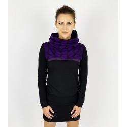 Hoodie Kleid in Schwarz Punkte Violett, Iza Fabian