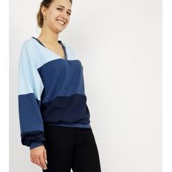 Gestreiftes Damen Pullover in Blau von Iza Fabian