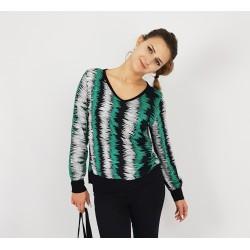 Damen Bluse Pullover aus Viskose in Streifen Design von Iza Fabian