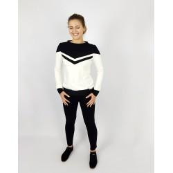 Damen Pullover in Schwarz Weiss Streifen von Iza Fabian