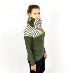 Damen Hoodie, Pullover in Zeder mit Streifen von Iza Fabian.