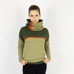 Damen Hoodie Pullover in Armie Grün und Olive von Iza Fabian.