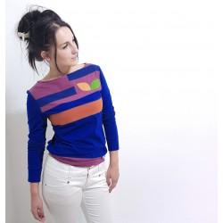 Royal Blaue Damen Pullover mit Applikationen von Iza Fabian