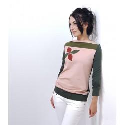 Bunte Damen Pullover mit Retro Muster von Iza Fabian.