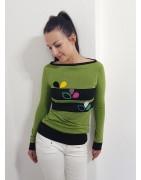 Designer Pullover , Longsleeve in Top Farben.